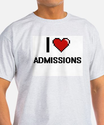 I Love Admissions Digitial Design T-Shirt