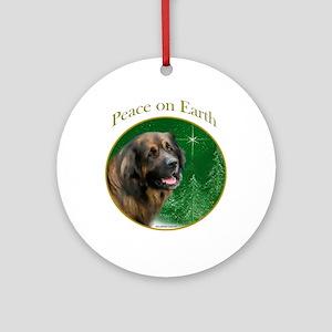 Leonberger Peace Ornament (Round)