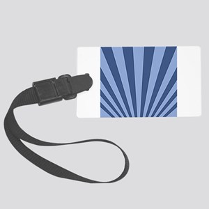Blue on Blue Perspective Large Luggage Tag