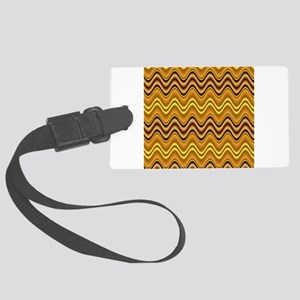 Golden Waves Large Luggage Tag