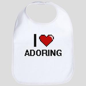 I Love Adoring Digitial Design Bib