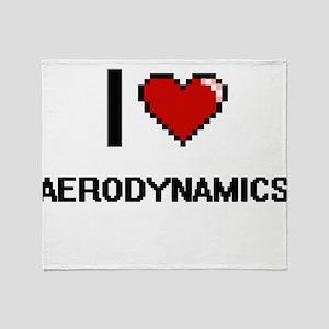I Love Aerodynamics Digitial Design Throw Blanket