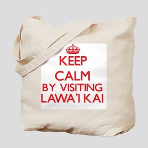 Keep calm by visiting Lawa'I Kai Hawaii Tote Bag