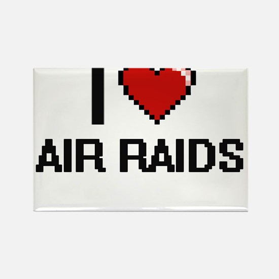I Love Air Raids Digitial Design Magnets