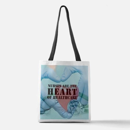 Nurses hearthealthcare Polyester Tote Bag