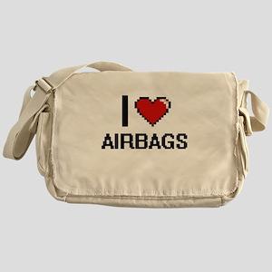 I Love Airbags Digitial Design Messenger Bag