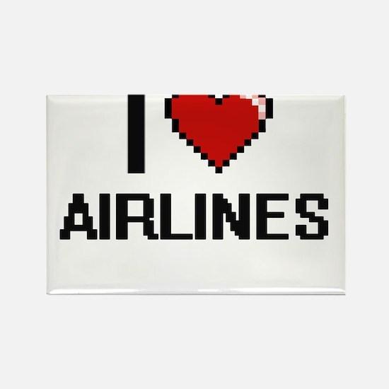 I Love Airlines Digitial Design Magnets
