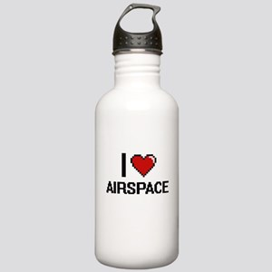 I Love Airspace Digiti Stainless Water Bottle 1.0L