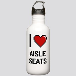 I Love Aisle Seats Dig Stainless Water Bottle 1.0L