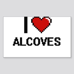 I Love Alcoves Digitial Design Sticker