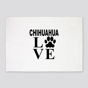 Chihuahua Love 5'x7'Area Rug
