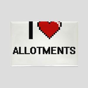 I Love Allotments Digitial Design Magnets