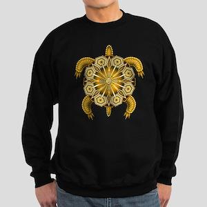 Yellow Native American Beadwork Sweatshirt (dark)