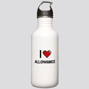 I Love Allowance Digit Stainless Water Bottle 1.0L