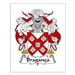 Braganca Family Crest Small Poster
