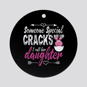 Daughter Easter Round Ornament