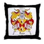 Boto Family Crest Throw Pillow