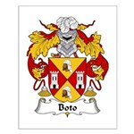 Boto Family Crest Small Poster
