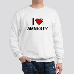 I Love Amnesty Digitial Design Sweatshirt