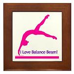 Gymnastics Framed Tile - Beam
