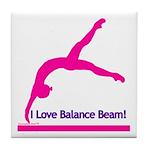 Gymnastics Tile Coaster - Beam