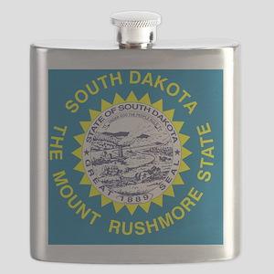 South Dakota State Flag Flask
