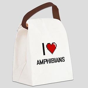 I Love Amphibians Digitial Design Canvas Lunch Bag