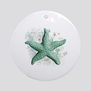Timeless Starfish Round Ornament
