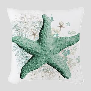 Timeless Starfish Woven Throw Pillow