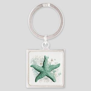 Timeless Starfish Square Keychain