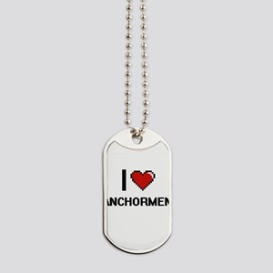 I Love Anchormen Digitial Design Dog Tags