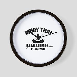 Muay Thai Loading Please Wait Wall Clock