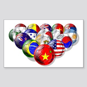 China Soccer Balls Sticker (Rectangle)