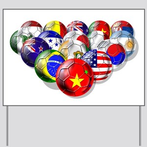 China Soccer Balls Yard Sign