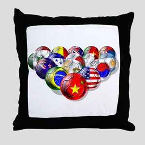 China Soccer Balls Throw Pillow