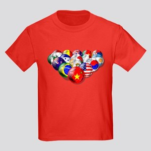 China Soccer Balls Kids Dark T-Shirt