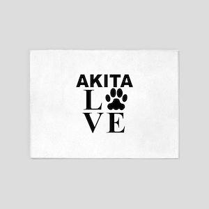 Akita Love 5'x7'Area Rug