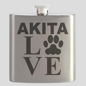 Akita Love Flask