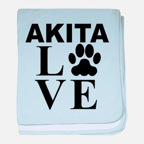 Akita Love baby blanket