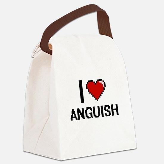 I Love Anguish Digitial Design Canvas Lunch Bag