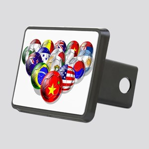 World Soccer Balls Rectangular Hitch Cover