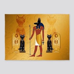 Anubis, ancient Egyptian god 5'x7'Area Rug