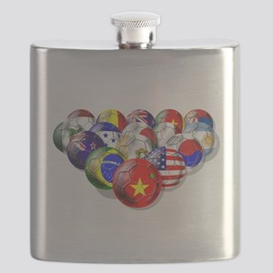 World Soccer Balls Flask