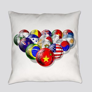 World Soccer Balls Everyday Pillow