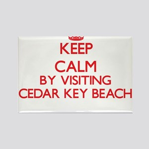 Keep calm by visiting Cedar Key Beach Flor Magnets