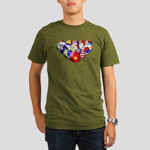 World Soccer Balls Organic Men's T-Shirt (dark)