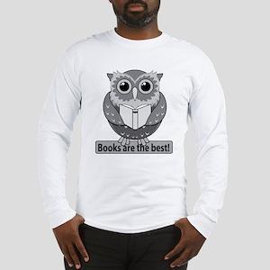 Owl books best B&W Long Sleeve T-Shirt