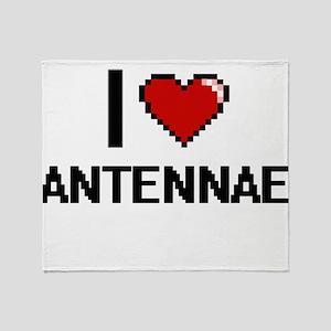 I Love Antennae Digitial Design Throw Blanket