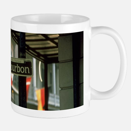 Bourbon Street Sign in New Orleans Mugs