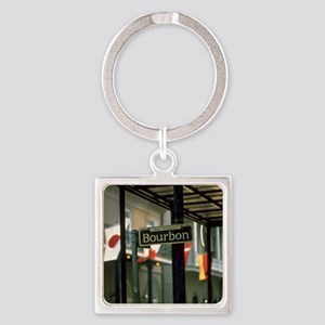Bourbon Street Sign in New Orle Keychains